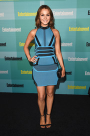 Camilla Luddington went the ultra-modern route in a blue scuba mini dress by Alexander Wang at the Entertainment Weekly Comic-Con party.