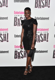 A tasseled clutch rounded out Danai Gurira's all-black ensemble.