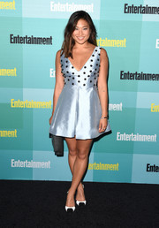 Jenna Ushkowitz chose a pair of black-and-white pumps by L.K.Bennett to finish off her look.