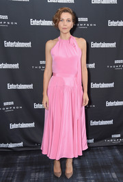 Maggie Gyllenhaal went the ultra-sweet route in a pink halter dress by Calvin Klein at the Entertainment Weekly Must List Party.