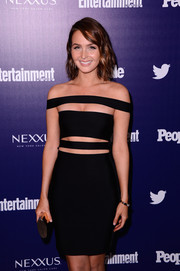 Camilla Luddington turned up the heat in a tight-fitting cutout LBD by Balmain at the Entertainment Weekly and People celebration of the New York Upfronts.