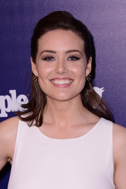 Megan Boone was fresh-faced at the Entertainment Weekly and People celebration of the New York Upfronts wearing this classic half-up style.