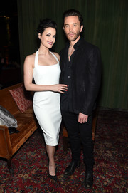 Jaimie Alexander was svelte and chic in a white halter dress at the Entertainment Weekly and People New York Upfronts.