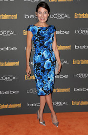 Lisa Edelstein oozed femininity in a floral sheath dress during the Entertainment Weekly pre-Emmy party.