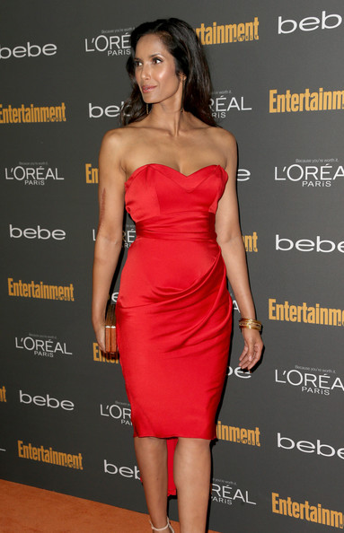 More Pics of Padma Lakshmi Long Wavy Cut (1 of 3) - Padma Lakshmi Lookbook - StyleBistro