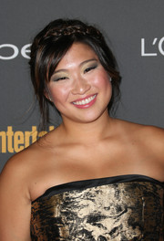 Jenna Ushkowitz looked cute at the Entertainment Weekly pre-Emmy party with her messy-chic braided updo.