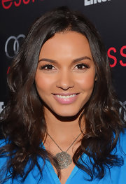 Jessica Lucas wore an intricately detailed pendant necklace to attend the Entertainment Weekly Pre-SAG Party.