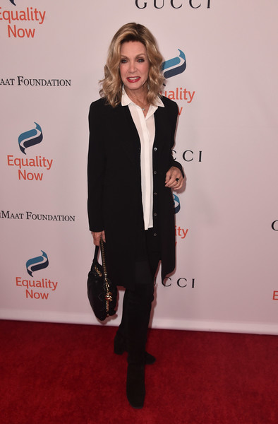 More Pics of Donna Mills Medium Wavy Cut (1 of 5) - Donna Mills Lookbook - StyleBistro [clothing,red carpet,carpet,suit,premiere,formal wear,footwear,blazer,outerwear,flooring,arrivals,donna mills,beverly hills,california,the beverly hilton hotel,equality now,annual make equality reality gala]