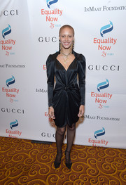 Adwoa Aboah finished off her look with a pair of black ankle-strap pumps.