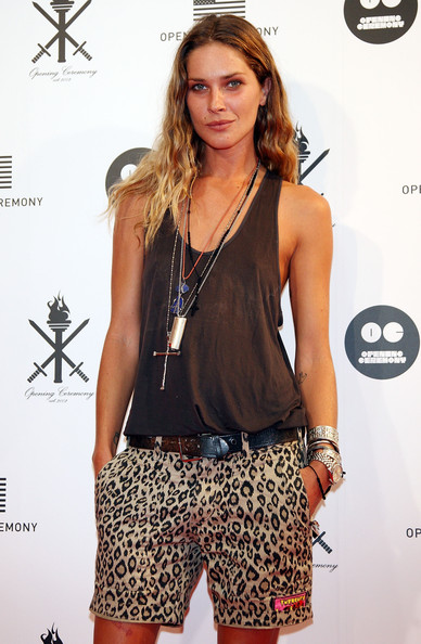 Erin Wasson Dress Shorts [fashion model,fashion,shoulder,flooring,model,long hair,muscle,brown hair,catwalk,fashion design,erin wasson,japan,shibuya,tokyo,store,opening ceremony,reception party,reception party]