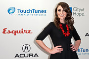 Sara Bareilles wore glossy black nail polish at the 'Esquire' Apartment Benefit.