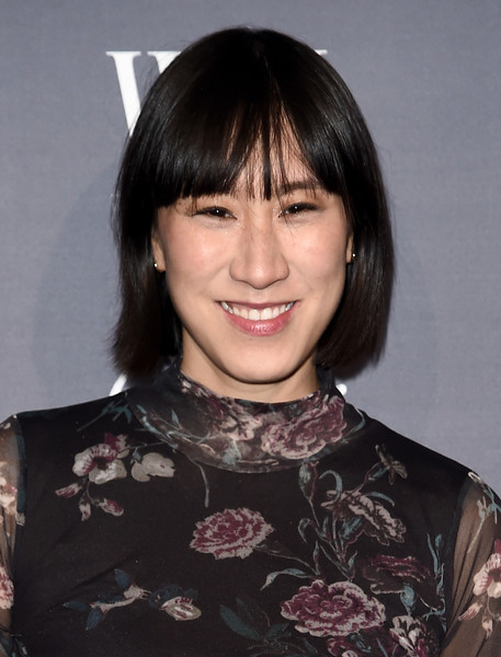 Eva Chen Short Cut With Bangs [hair,hairstyle,face,bangs,chin,eyebrow,black hair,bob cut,forehead,lip,arrivals,eva chen,wsj magazine 2016 innovator awards,2016 innovator awards,new york city,wsj,magazine,museum of modern art]