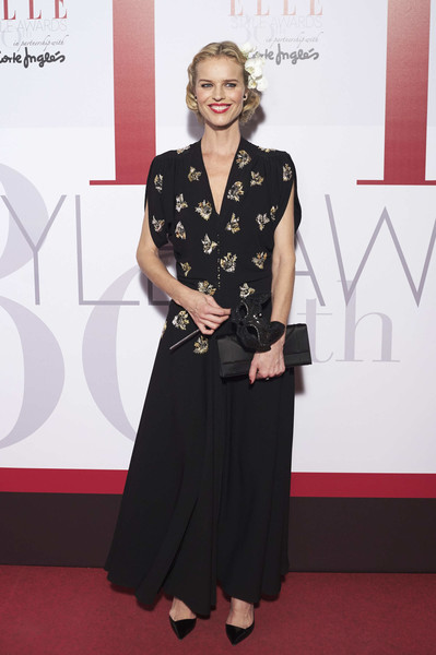 Eva Herzigova Embroidered Dress