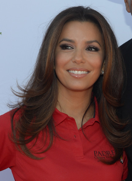 Eva Longoria Feathered Flip