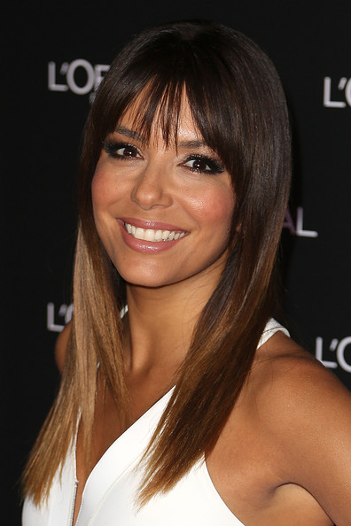 Eva Longoria Long Straight Cut with Bangs