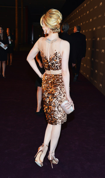 Evan Rachel Wood Sequined Clutch