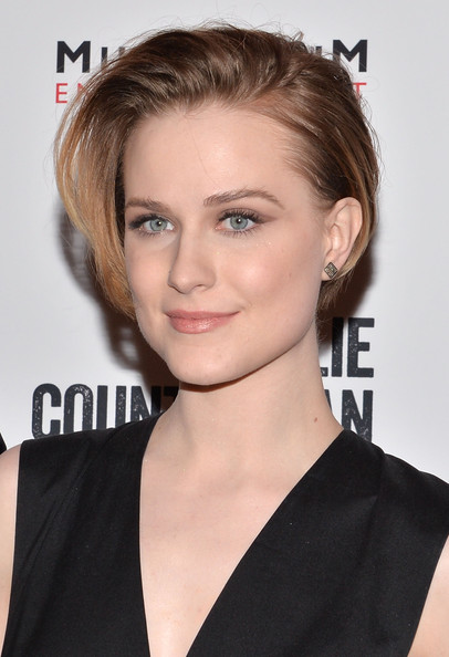 Evan Rachel Wood Bob [hair,face,hairstyle,eyebrow,blond,chin,lip,beauty,shoulder,forehead,evan rachel wood,charlie countryman,screening,new york,sunshine landmark,screening]