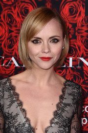 Christina Ricci sported a super-neat bob at the Evening Honoring Carolina Herrera event.