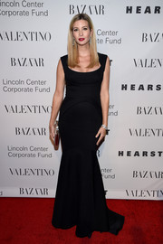 Ivanka Trump was all about understated elegance in a black mermaid-silhouette gown during the Evening Honoring Valentino Gala.