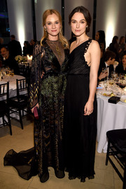 Keira Knightley was a classic beauty in her black one-shoulder gown at the Evening Honoring Valentino Gala.