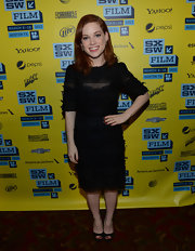 Jane Levy's little black dress with lace embellishments was a modern take on a fashion classic.
