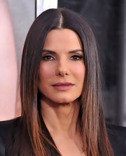 Sandra Bullock wore a soft iridescent berry shade of lipstick at the NYC premiere of 'Extremely Loud & Incredibly Close.'