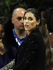 With her hair in a lovely braided updo, Yolanthe Sneijder looked more like she was walking the red carpet than watching a game.