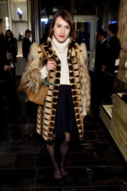 Ella Catliff broke out the fur for Fendi's New York flagship store opening.