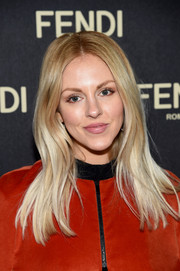 Shea Marie looked retro-chic with her gently wavy, center-parted layers at the Fendi New York flagship store opening.