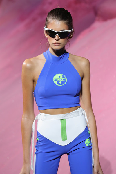 Kaia Gerber looked oh-so-cool wearing these Rudy Project half jacket sunglasses on the Fenty Puma Spring 2018 runway.