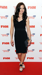 Victoria Pendleton rocked a basic LBD at the FHM's Sexiest Woman Launch party in London.