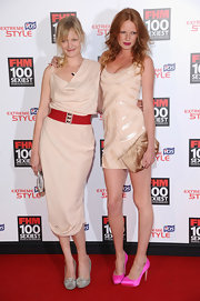 Olivia sparkled in a nude sequined cocktail dress for the 100 Sexiest Women launch party.