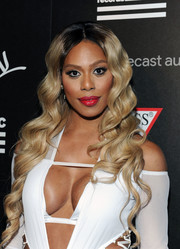 Laverne Cox channeled her inner mermaid with this long wavy 'do at the Republic Records VMA party.