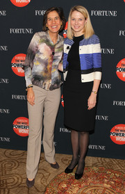 Marissa Mayer completed her outfit with a basic black pencil skirt.