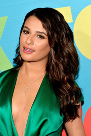 Lea Michele styled her thick, long locks with beachy waves for the Fox Programming Presentation.