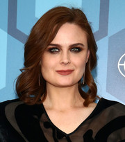 Emily Deschanel looked lovely with her shoulder-length curls at the Fox 2016 Upfront.