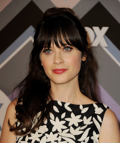 More Pics of Zooey Deschanel Print Dress (1 of 8) - Zooey Deschanel Lookbook - StyleBistro