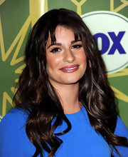 Lea Michele wore a frosty berry-colored lipstick at the FOX All Star Party.