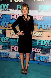 Dakota kept her look sleek and sexy with a long-sleeve LBD at the FOX All-Star party.