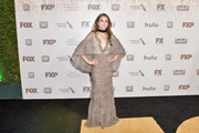 Keri Russell walked on the wild side in a caped leopard-print gown by J. Mendel at the Fox Golden Globes after-party.