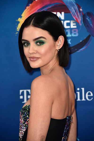Lucy Hale's Smoky Emerald Palette