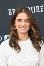 Amanda Peet looked sweet with her feathered flip at the 'Brockmire' FYC event.