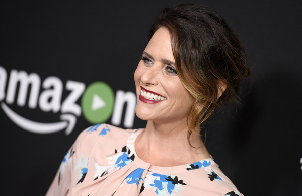 Amy Landecker styled her locks into a messy updo for the FYC special screening for 'Transparent.'