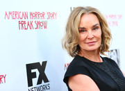 Jessica Lange attended the special screening of 'American Horror Story: Freakshow' wearing her hair in a curly bob.