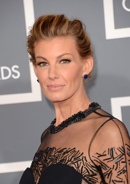 Faith Hill Messy Updo