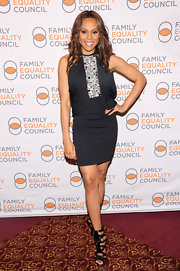 Deborah Cox rocked a black dress with embellishments at the Family Equality Council's Night in NYC.