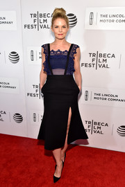 Jennifer Morrison was flirty yet elegant in this high-slit combo dress by Self-Portrait at the Tribeca Film Fest premiere of 'The Family Fang.'