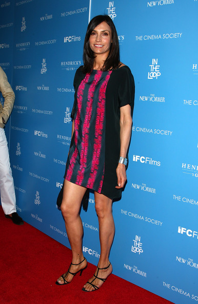 Famke Janssen Strappy Sandals