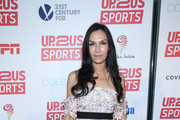 Famke Janssen Off-the-Shoulder Dress