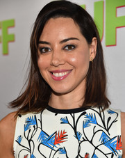 Aubrey Plaza went for simple styling with this straight, shoulder-length 'do during the fan screening of 'The Duff.'